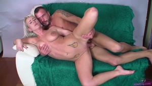 Cumshot at the castings among blonde