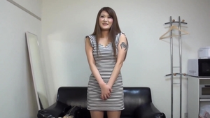 Asian threesome during interview in HD
