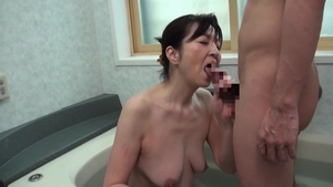 Sex toys between hairy asian MILF