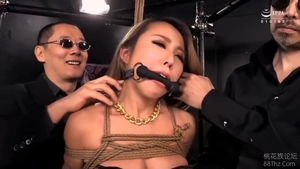 BDSM hairy japanese in tight stockings