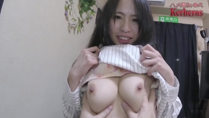 Raw sex escorted by big tits japanese brunette