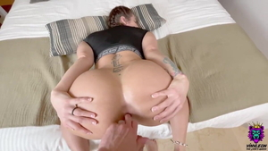 Pussy fucking together with big booty european bisexual