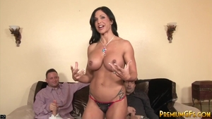 Rough gangbang in company with big boobs mature Jewels Jade