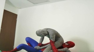 'Superheroes Zentai Balls-Fight (Balbusting Wrestling) With Servilejerome'