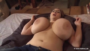 Solo sweet blonde haired titty fucking
