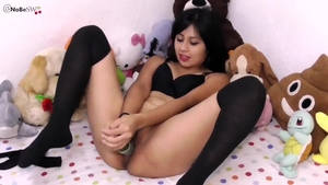 Very hot mexican babe squirts HD
