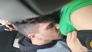 Friend fucked hard in the car