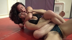 Lesbo humping at the gym