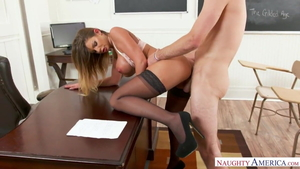 Big tits Brooklyn Chase mature goes wild on cock porn