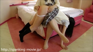 Homemade rough nailing accompanied by asian schoolgirl