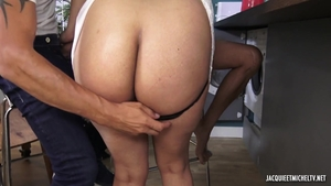 Large tits babe dick sucking in public