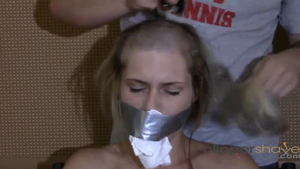 Shaved blonde haired humiliation HD