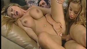 Large boobs Kianna Dior amongst Peter North rough orgy