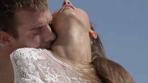 Gorgeous couple need art raw sex outdoors HD