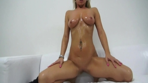 Bubble butt babe gets ass licked at casting