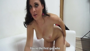 Czech brunette good fuck at casting