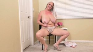 Big tits blonde hair fingering in HD