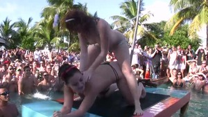 Small tits stepmom contest in the pool