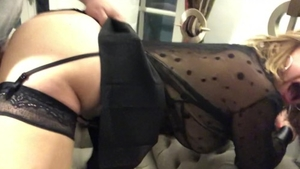 Young large boobs supermodel in stockings rough cumshot HD