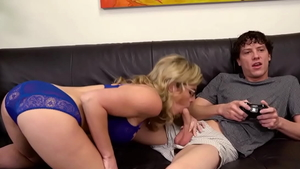 Large boobs Cory Chase threesome cum swallow