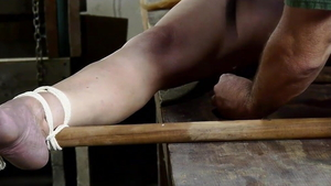 Tied up on the table starring small tits european stepmom