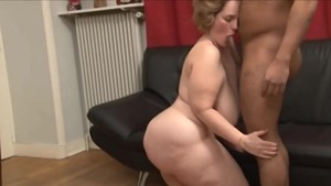 Raw fucking escorted by cellulite french MILF