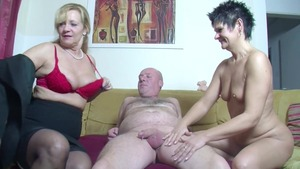 German female threesome at casting