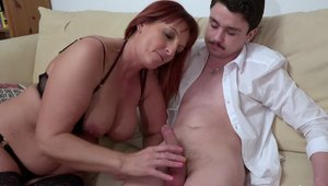 OldNanny - Sex scene with aged MILF