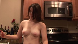 Big tits redhead reality cooking in the kitchen