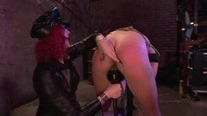 Brunette Soma Snakeoil in company with Jamey Janes BDSM