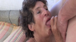 Hairy granny hard goes wild on cock