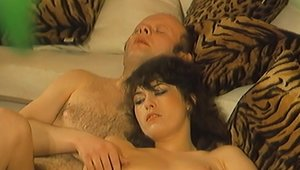 Vintage french nerdy group sex