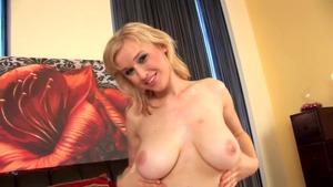 Shaved & busty czech female masturbating solo