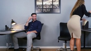 Big ass naughty pornstar Nicole Aniston reality in office