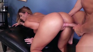Raw hard fucking between big tits teacher Brooklyn Chase