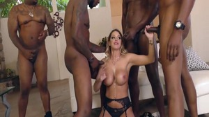 Gangbang together with Brooklyn Chase and Jax Slayher