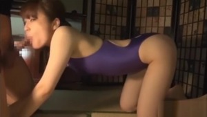 Cock sucking japanese in the swimsuit