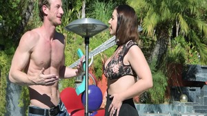 Big tits Ryan Mclane pussy fuck and Ivy Lebelle in the pool