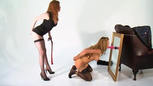 Big tits maid has a thing for bondage in HD